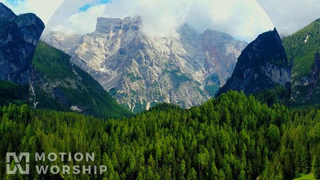 Epic Spring Aerial Mountain Lake