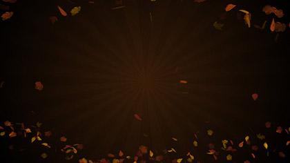 Autumn Abstract Sunburst