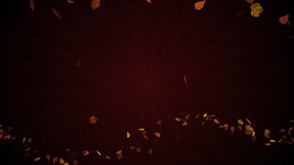Autumn Abstract Sunburst Red