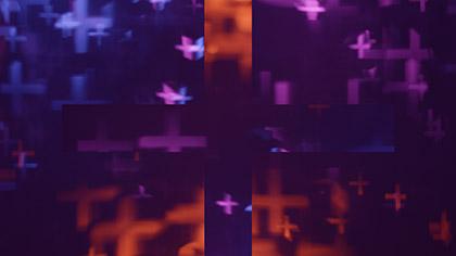 Bokeh Shapes Colorful Crosses