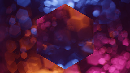 Bokeh Shapes Colorful Hexagons Reflected