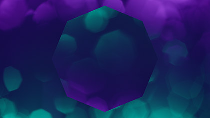 Bokeh Shapes Purple Teal Octagons Reflected