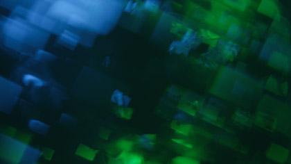 Bokeh Shapes Teal Green Boxes