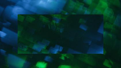 Bokeh Shapes Teal Green Boxes Reflected