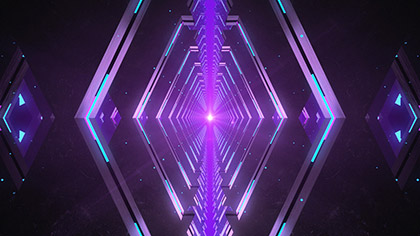 Chromatic Tunnel Purple Slow