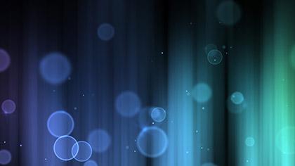 Color Bubbles Blue Green