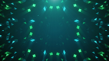 Crystal Patterns Teal Green