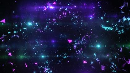 Geodesic Purple Teal Slow
