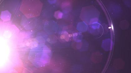 Glowing Hexagon Flare Purple
