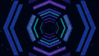 LED Wall 8 Bit Tunnel