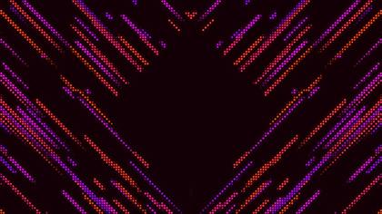 LED Wall Orange Rise Reflection