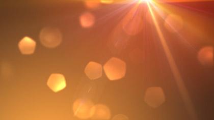 Lens Particles Orange