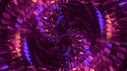 Mirror Ball Purple Fan