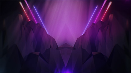 Polygon Laser Mountains