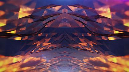Polygon Sunset Cloud Glass