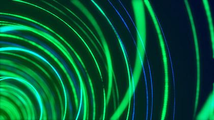 Spiral Green Blue