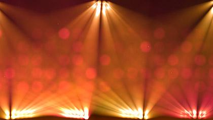 Stage Lights Orange Flashing