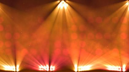 Stage Lights Orange Scrolling