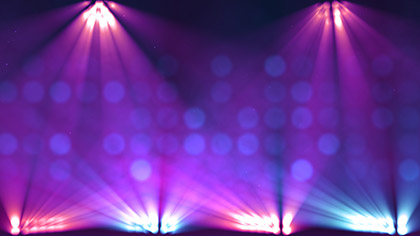Stage Lights Purple Flashing