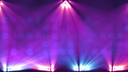 Stage Lights Purple Scrolling