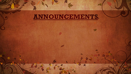 Autumn Abstract Announcements