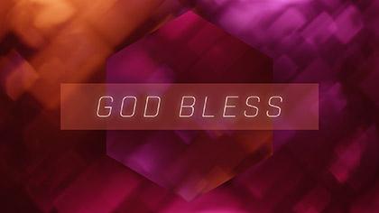 Bokeh Shapes God Bless