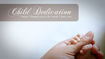Child Dedication Hands