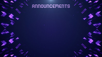 Crystal Patterns Announcements