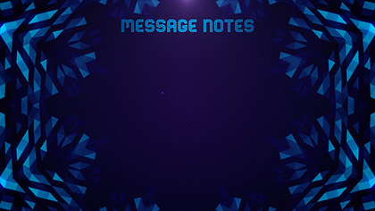 Crystal Patterns Message Notes