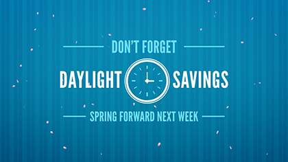 Daylight Savings Spring Forward