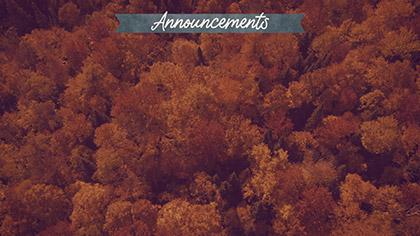 Epic Autumn Aerial Announcements