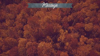 Epic Autumn Aerial Message