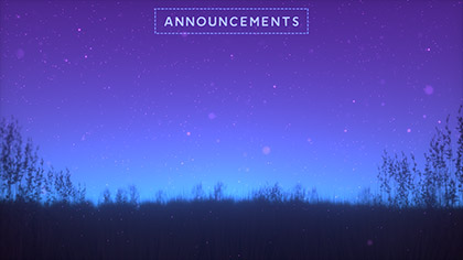 Summer Fireflies Announcements