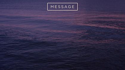 Sunset Surf Message