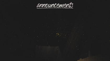 Winter Light Announcements