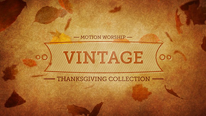 Vintage Thanksgiving Collection
