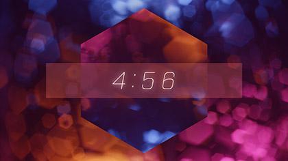 Bokeh Shapes Countdown