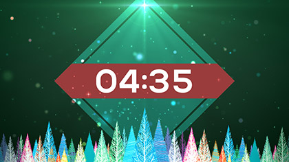 Colorful Christmas Trees Countdown