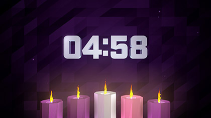 Digital Advent Candles Countdown