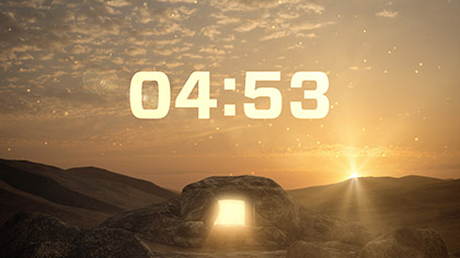 Easter Sunrise Countdown