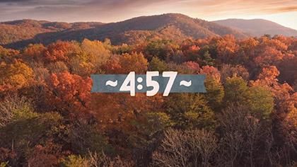 Epic Autumn Aerial Countdown