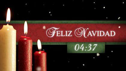 Feliz Navidad Nieve Countdown