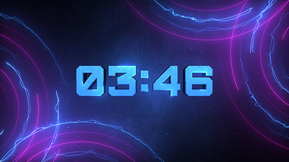 Neon Lines Dubstep Countdown