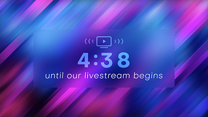 Online Streaming Livestream Countdown