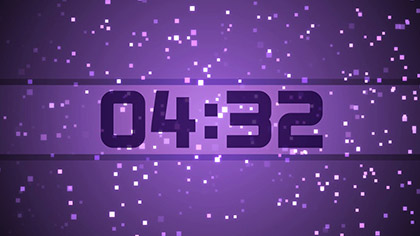 Purple Squares Countdown