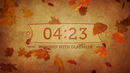 Vintage Thanksgiving Countdown