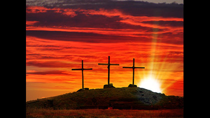 3 Cross Sunset