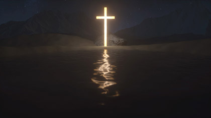 Desert Prayer Cross Reflection
