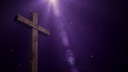 Particle Glow Rugged Cross