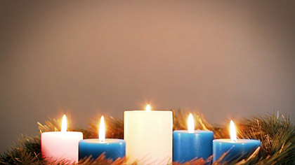 Advent Wreath Blue Week 5